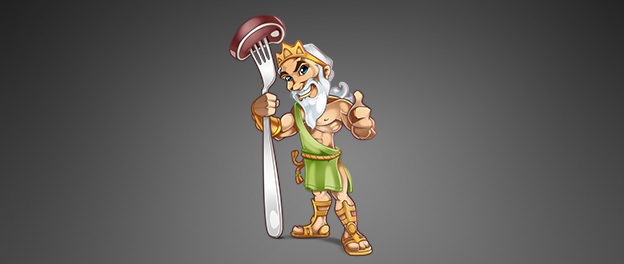 Mascot Design – God of steak