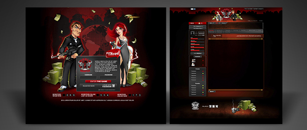 Game Interface World Mafia Its Magic Custom Logo Websites - Game design websites