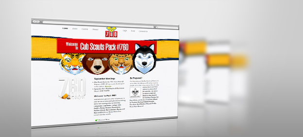 Website Design – Scout Pack 760